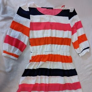 The Vintage Shop Multi Colored Striped Dress Small